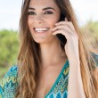 Happy Young WomTalking On Cellphone — Stock Photo #40610091