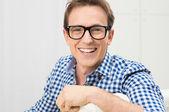 Young Man Wearing Eyeglasses — Stock Photo