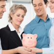 Business Team Saving Money — Stock Photo #44860907
