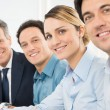 Happy Businesspeople In a Row — Stock Photo #44860959