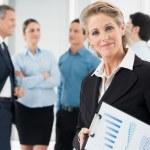 Satisfied Mature Businesswoman — Stock Photo