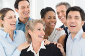 Happy Businesspeople Celebrate — Stock Photo