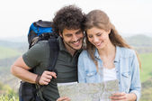 Couple Looking At Map — Stock Photo