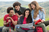 Group Of People On Camping Trip — Stock Photo