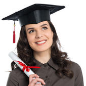 Female Graduate With Certificate — Stock Photo