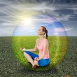 meditation bubbla — Stockfoto #12302360