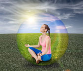 Meditation bubble — Stock Photo