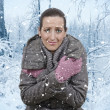 Woman and snowfall — Stock Photo #18380677