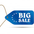 Blue outlet tag big sale — Stok Vektör #12507679