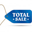 Blue outlet tag total sale — Stockvector #12507932