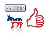 Vote Democrats — Stock Vector