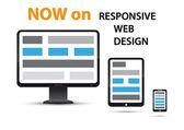 Reagovat webdesign — Stock vektor