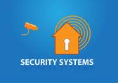 Hus med nyckelhållare — Stockvektor