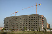 Construction of Black Building — Stock Photo