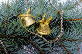 Spruce branch with bells — Stock Photo