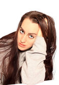 Face of beautiful young woman — Stock Photo