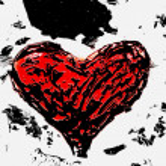 Texture embossed heart — Stock Photo