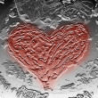 Texture embossed heart — Stock Photo