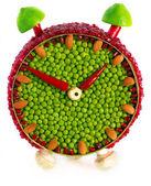 Hodiny objem ovoce a zeleniny — Stock fotografie