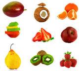 Fruta da manga isolada no fundo branco — Foto Stock