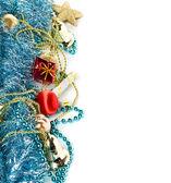 Christmas garland, border with decoration — Stock Photo