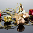 Christmas composition, decoration — Stock Photo