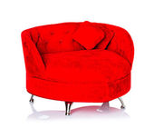 Red sofa, couch — Foto de Stock