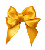 Golden bow, ribbon — Foto Stock