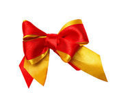 Red, yellow bow, ribbon — Foto de Stock