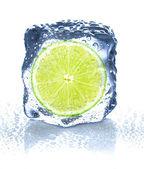 Ice cube isolated — Stock Photo