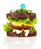 Sandwich isolated — Stock Photo