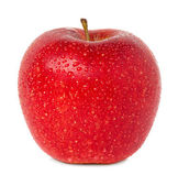 Red apple with water drops — Stock Photo