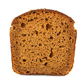 Brown bread slice isolated — Stock Photo
