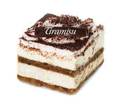 Tiramisu, cake isolated on white — Foto Stock