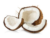 Coconut isolated on white background — Stock Photo