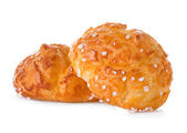 Choux pastry isolated on white — Stock Photo