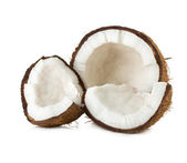 Coconuts. Coco Nut isolated on white Background — Stock Photo