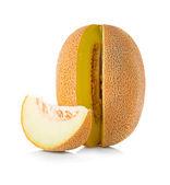 Melon isolerad på vit bakgrund — Stockfoto