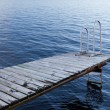 Stock Photo: Stockholm archipelago - empty bathing platform