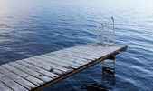 Stockholm archipelago - empty bathing platform — Stock Photo