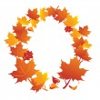 Frame of maple autumn leafs — Stock Photo
