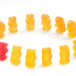 Gummy bears series - integration, (conceptual) — 图库照片