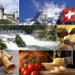 Switzerland Landmark Collage — Stock Photo