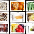 Healthy diet collage - Stock Photo
