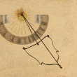 Antique Sundial — Stock fotografie #12455045