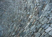 Shell-formed pavement with cobble stones — Stock Photo