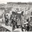Diggings at Kimberley-Kopje in 1872 — Stock Photo