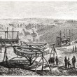 Transport equipment in the diamond diggings, South Africa, — Zdjęcie stockowe