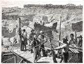 1872 年にキンバリー小丘で採掘 — ストック写真