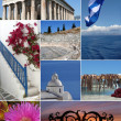 collage de hito de Grecia — Foto de Stock